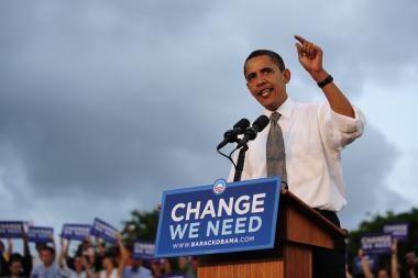 B.Obamos populiarumas auga