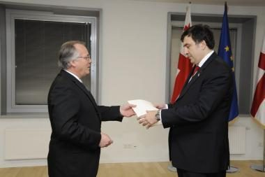M.Laurinkus ambasadoriaus Gruzijoje