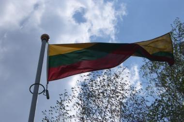 Vilniuje nuo teismo pastato pavogta vėliava