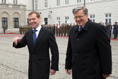 Rusijos prezidento vizito Lenkijoje metu bus rengiami protesto mitingai