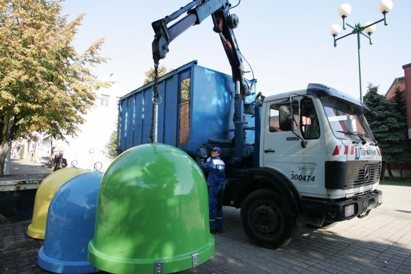 Vilniuje ugnis sugadino konteinerius už 5 tūkst. litų