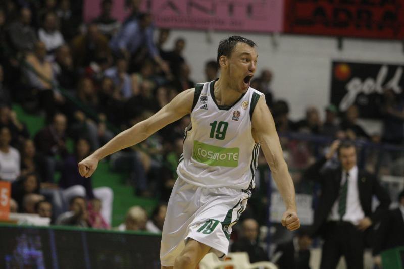 """Š.Jasikevičius  Atėnų """"Panathinaikos"""" pelnė 12 taškų"""