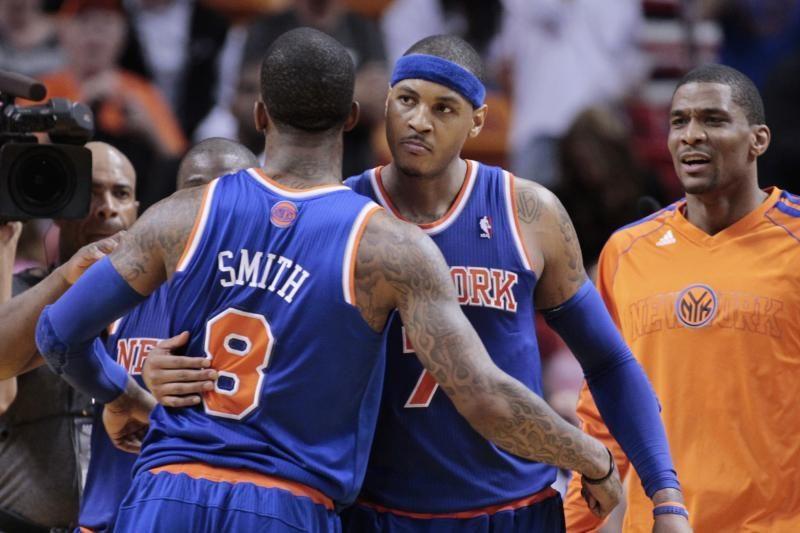 Pusę komandos taškų pelnęs C. Anthony privertė pasiduodi NBA čempionus