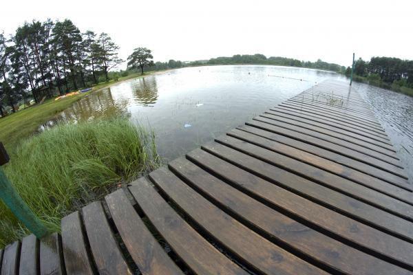 Prie Vilkokšnio ežero Trakų rajone įrengtas paplūdimys