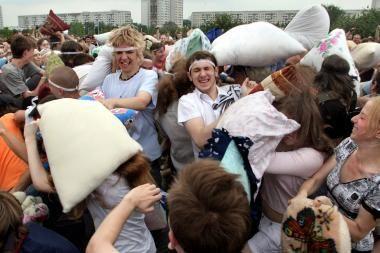 Minske teisiamas opozicionierius, organizavęs Žalgirio mūšio metinėms mūšį pagalvėmis