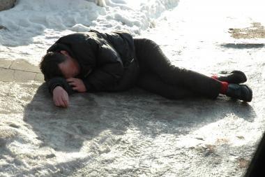 Klaipėdos centre – mirtinai sušalęs vyras