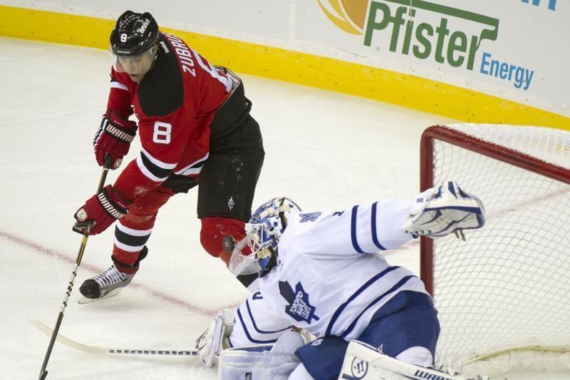 D.Zubrus NHL rungtynėse vėl pasižymėjo įvarčiu