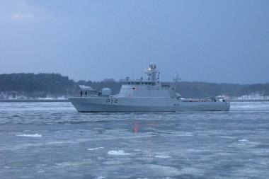 Klaipėdoje – karinio laivo P14 vardo suteikimo ceremonija
