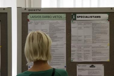 Nedarbas rugpjūtį Kauno mieste ir rajone mažėjo