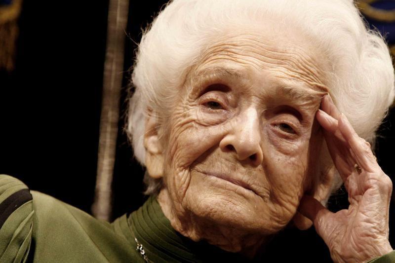 Mirė Nobelio medicinos premijos laureatė R. Levi-Montalcini