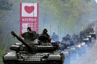 Gruzijos karių maišto lyderiai nubausti ilgomis įkalinimo bausmėmis