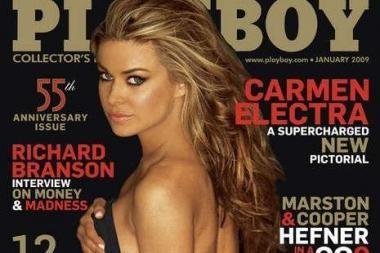 """C.Electra po 12 metų vėl pozavo """"Playboy"""""""