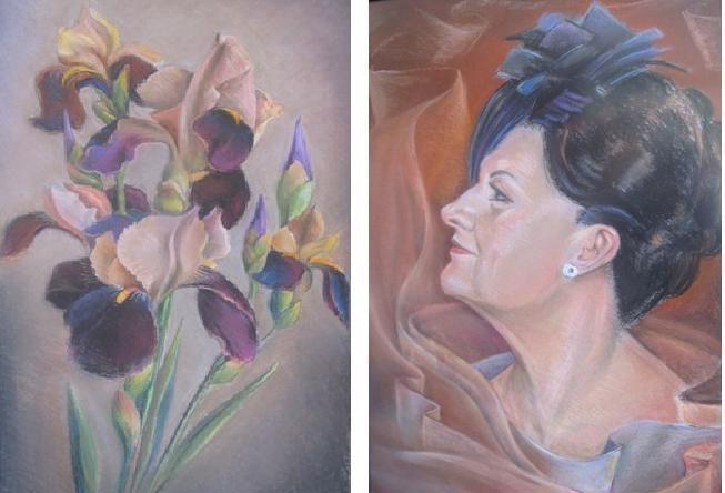 Sofijos Kanaverskytės pastelių parodoje – moterys ir gėlės