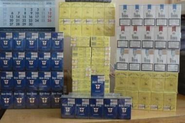 Pasienyje su Baltarusija - daugiau nei 220 tūkst. litų vertės rūkalų kontrabanda