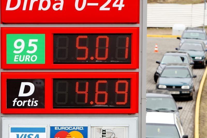 Litras benzino jau kainuoja daugiau nei 5 litus
