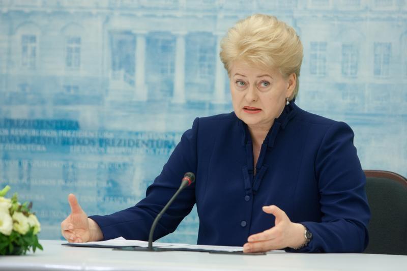 D. Grybauskaitė: Lietuva neskubės prisijungti prie ES bankų sąjungos