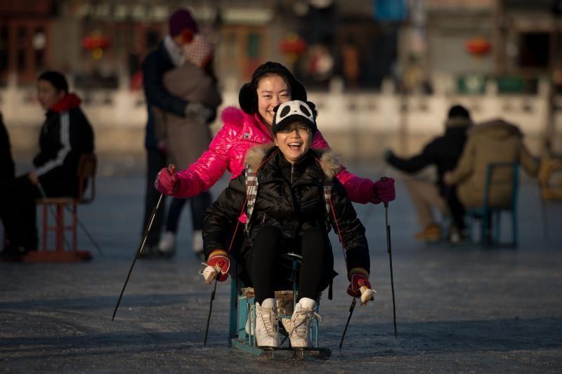 Kiniją sukaustė smarkiausi šalčiai per 28 metus