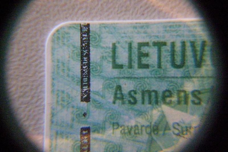 Gruzinas keliavo su padirbta lietuviška tapatybės kortele