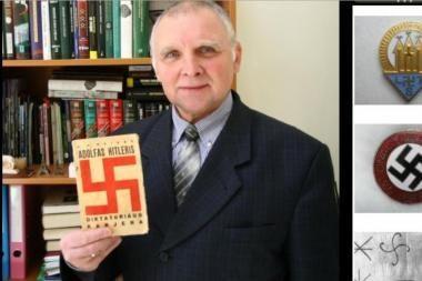 Skandalo dėl holokausto neigimo herojus: svastiką su fašizmu tapatina diletantai
