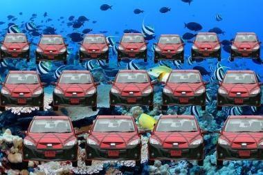 Maskvos vizija: automobilių aikštelė po vandeniu