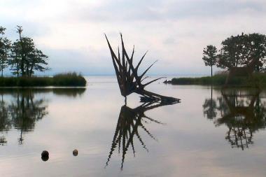 Nendrinių ugnies skulptūrų kūrėjai vėl susitinka Juodkrantėje