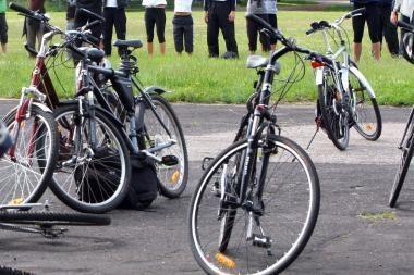 Laisvės alėjoje - dviračių nuomos punktas