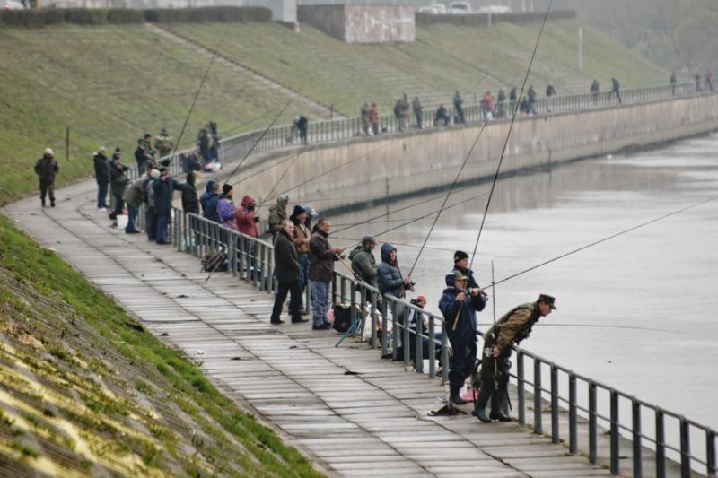 Per laisvadienius žvejai užplūdo Nemuno krantinę