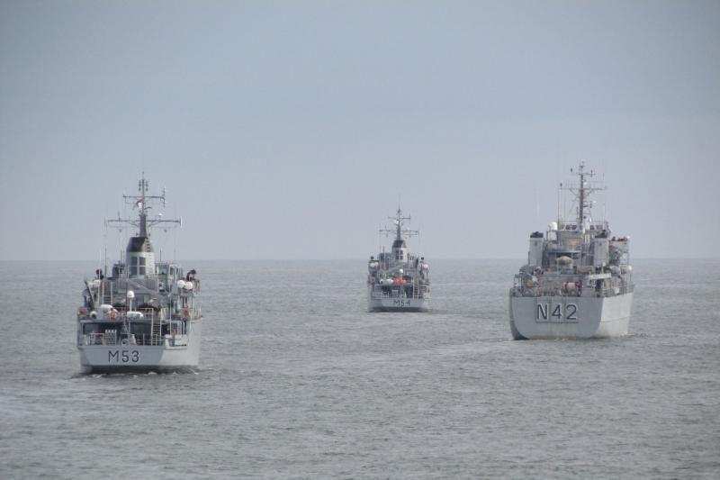 Lietuvos karinių jūrų pajėgų laivai dalyvauja išminavimo pratybose
