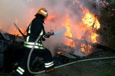Ugniagesiai išgelbėjo du benamius