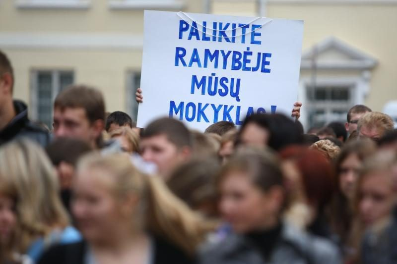 Vilniuje vyks net du mitingai dėl švietimo problemų