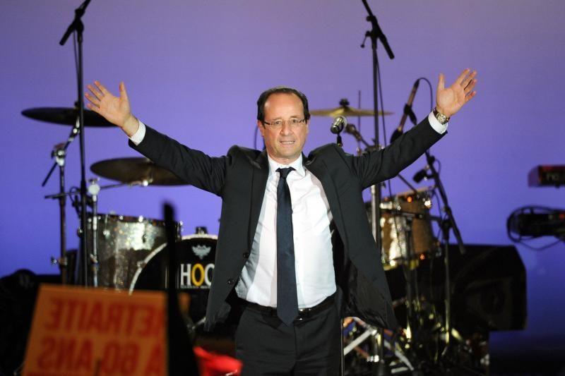 F.Hollande'as prezidento rinkimuose surinko 51,62 proc. balsų