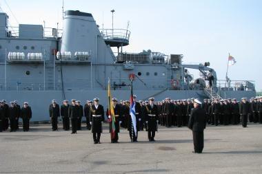 Karinių jūrų pajėgų atkūrimo dienos minėjimas