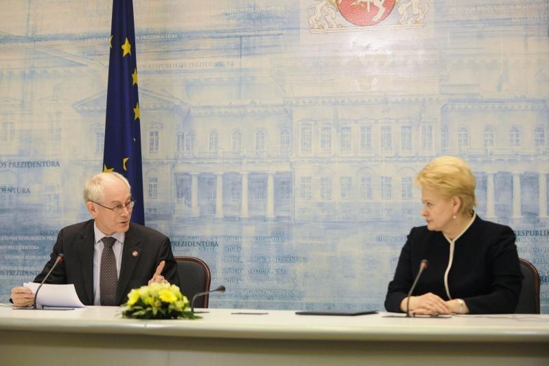 H. Van Rompuy: laukiu Lietuvos euro zonoje