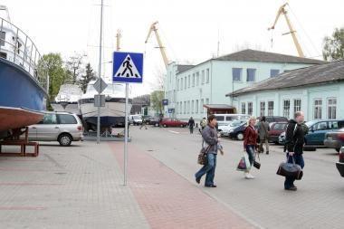 Kelyje į Kruizinių laivų terminalą atsiras nauji ženklai