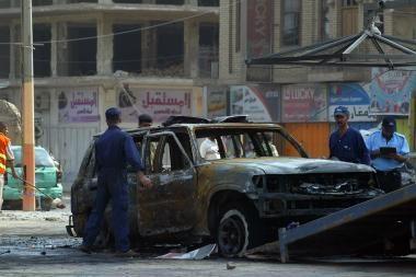 Sukilėliai atakavo Irako darbo ministro kortežą