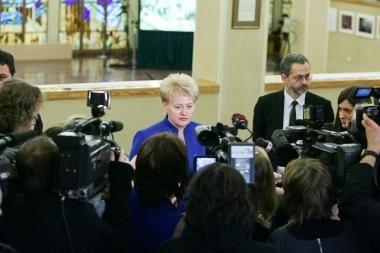 Prezidentė apie V.Ušacko paskyrimą: Lietuva gavo neblogą poziciją