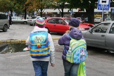 Rudens pradžioje vaikai patiria daugiausia traumų