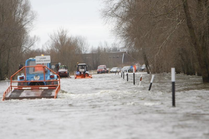 Potvynis pamaryje numatomas mėnesiu vėliau nei pernai