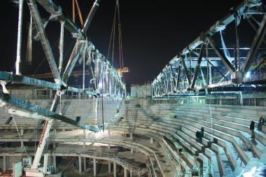 Arenos statyboje - įspūdingo dydžio konstrukcijos