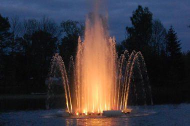 Nuskendusį Veisiejų fontaną tikimasi ištraukti penktadienį