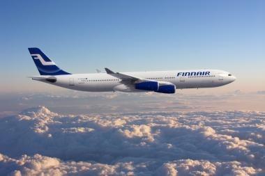 """Finnair"" neskraidins į Helsinkį ir ketvirtadienį"