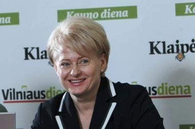 Studenai prisikvietė ir D.Grybauskaitę
