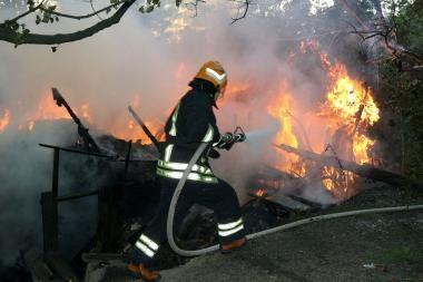Klaipėdoje sudegė sodo namelis