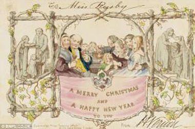 Aukcione bus parduodami seniausi pasaulyje kalėdiniai atvirukai