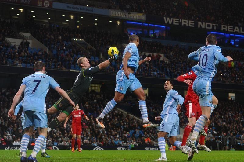 """""""Manchester City"""" įsitvirtino Anglijos lygos lyderio pozicijoje"""
