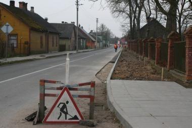 Kauno rajone klojami nauji šaligatviai