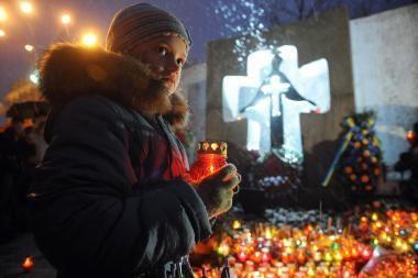 Ukraina pagerbė per didįjį badą žuvusiųjų atminimą