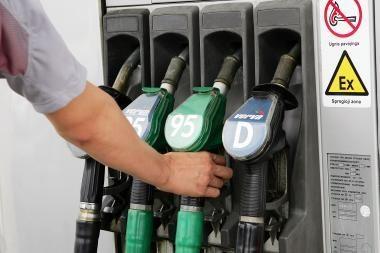 Dyzelino kainos turėtų priartėti prie benzino kainų