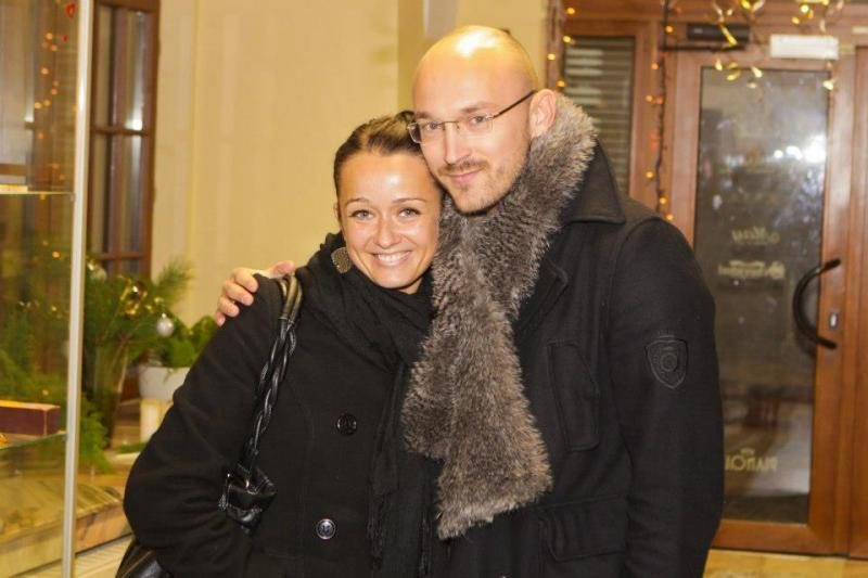 D. Baumila su R. Židonyte kartu jau lankosi įžymybių vakarėliuose