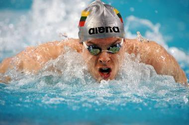 V.Janušaitis kovos dėl medalio 100 m rungtyje